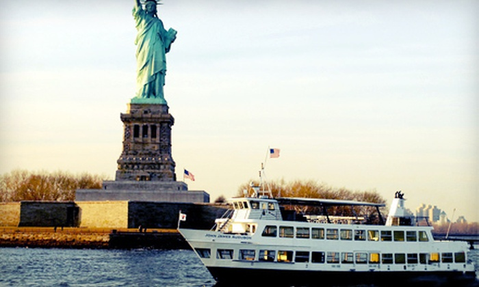 Saturday Night Cruise - New York: Saturday-Night Boat Cruise on the Hudson River for One, Two, or Four from Saturday Night Cruise (Up to 54% Off)