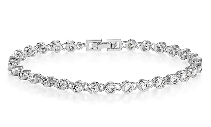 One (€22.99) or Two (€32.99) Bracelets Featuring Clear Simulated Sapphires With Free Delivery (Up to 76% Off)