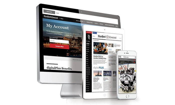 """Hartford Courant: One-Year or Two-Year Unlimited Digital Access Subscription to the """"Hartford Courant"""" (84% Off)"""