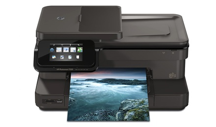 HP Photosmart 7520 e-All-in-One Printer with Full Genuine HP Ink (Refurbished)