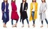 Isaac Liev Women's Drape Front Cardigan with Pockets