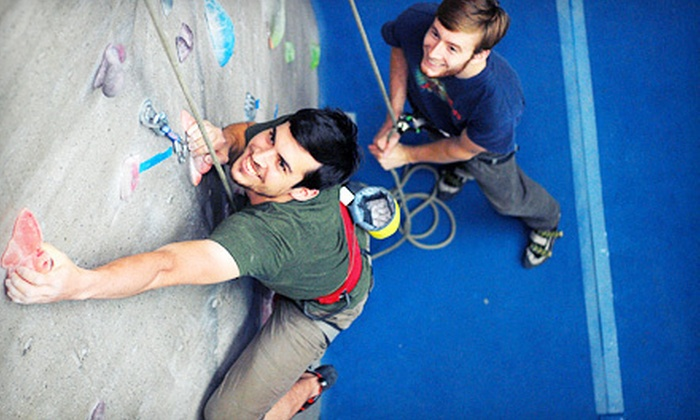 Triangle Rock Club - Morrisville: Intro to Climbing Class with a One-Week Club Membership and Two Additional Day Passes at Triangle Rock Club in Morrisville (Up to 67% Off). Two Options Available.