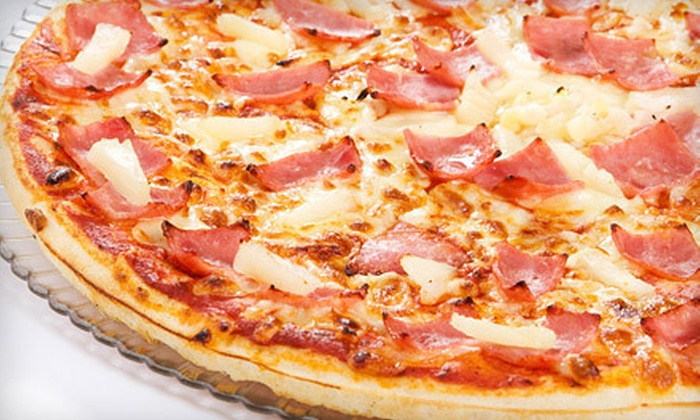 JR's Place Restaurant - Belmont: One or Two Pizzas with Garlic Bread and Fountain Drinks at JR's Place Restaurant (Up to 55% Off)