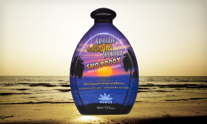 Most Products Absolute Bronzing Lotion: $19.99 for Most Products Absolute Bronzing Cocktail SHO 9000X Indoor Tanning Lotion ($55 List Price). Free Shipping.