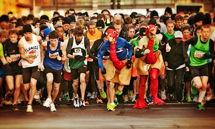 Life Time Fitness Turkey Day 5K - San Francisco: Life Time Fitness Turkey Day 5K Race Entry and T-shirt for One, Two, or Four (Up to 75% Off)