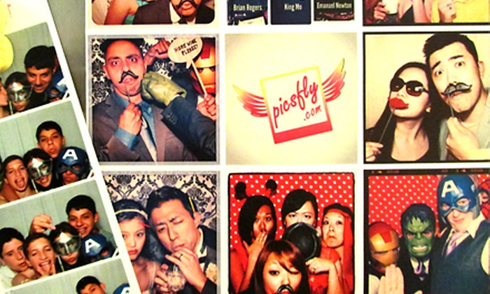 Picsfly Photobooth - New York City: $475 for Photo-Booth Rental with Social Media Kioskfor Three Hours by Picsfly Photobooth ($1,150 Value)