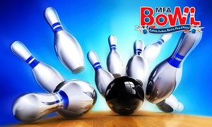 MFA Bowl Limited: Two Games of Bowling for Up to Four or Six from MFA Bowl, 28 Locations (Up to 78% Off)
