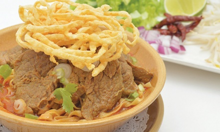 Thai Cuisine for Dine-in or Takeout at NOK Thai Kitchen (53% Off). Three Options Available.