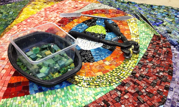 The Chicago Mosaic School - North Center: Up to 56% Off BYOB Mosaic Jewelry or Basics Workshop for One or Two at The Chicago Mosaic School