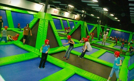 $24  for Indoor-Trampoline Session for Two at Rebounderz Indoor Trampoline Arena ($39.48  Value)