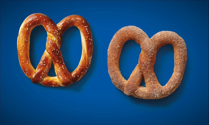 Auntie Anne's - Multiple Locations: $6 for Four Soft Pretzels at Auntie Anne's ($14.36 Value)