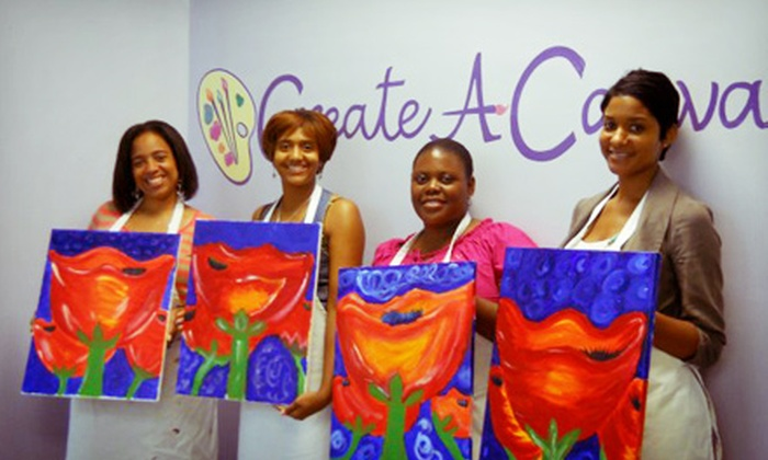 Create a Canvas - Lithonia: Two-Hour BYOB Painting Class for One or Two or Private Painting Party for Up to 10 at Create a Canvas (Up to 60% Off)