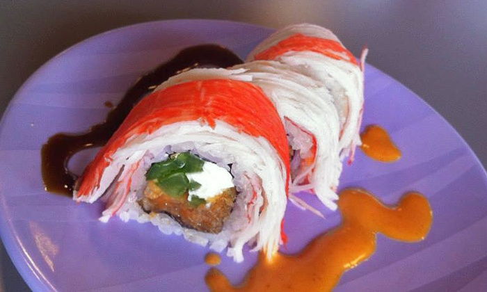 Ahi Revolving Sushi - Gilbert Town Square: Sushi and Drinks at Ahi Revolving Sushi (Up to 53% Off). Three Options Available.