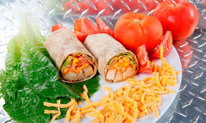 Muscle Maker Grill - Ridgewood: Three or Five Wraps with a Side at Muscle Maker Grill (Up to 48% Off)