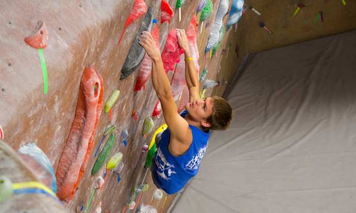 Rock Spot Climbing - Multiple Locations: Two Day Passes or 1 or 3 Months of Unlimited Rock Climbing with Gear Rental at Rock Spot Climbing (56% Off)