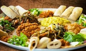 Restaurant Asmara: Keren-Mix-Platte mit Spezialitäten aus Eritrea für Zwei im Restaurant Asmara ab 9,70 € (bis zu 52% sparen*)