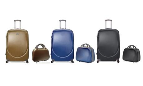 Set de maleta de cabina y neceser de viaje