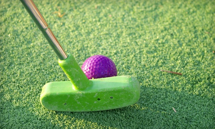 Funtrackers - Flour Bluff: Mini-Golf Outing or Five Rides on Any Attraction for Two or Four with a Two-Topping Pizza at Funtrackers (Up to 56% Off)