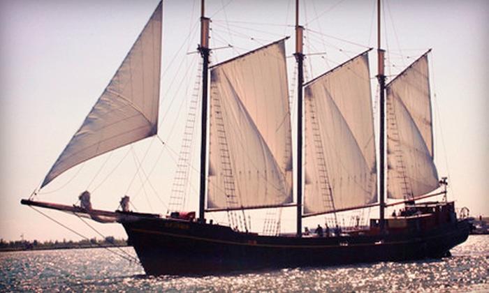 "Great Lakes Schooner Company - Toronto Kajama: $12 for a Two-Hour Sail on the Tall Ship ""Kajama"" from Great Lakes Schooner Company (Up to $24.80 Value)"