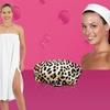 Lulu Beauty Co. Terrycloth Spa Wrap, Headband, and Shower Cap Set