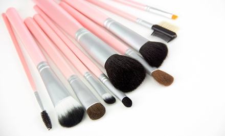 10-Piece Pink Makeup Brush Set
