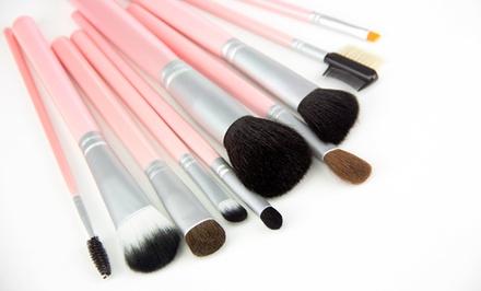 10-Piece Pink Makeup Brush Set