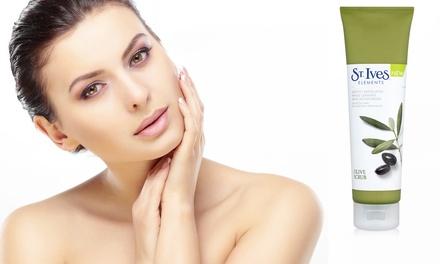 1 o 2 cremas exfoliantes faciales con aceite de oliva de la marca St Ives