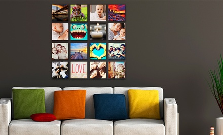 Custom Square Instagram Photo Canvas from Printerpix. Multiple Options from $8.99–$59.99