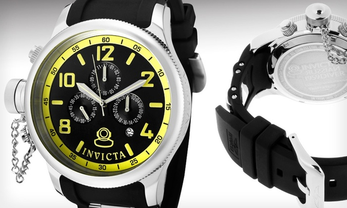 Invicta Men's Russian Diver Chronograph Watch: $79.99 for an Invicta Men's Russian Diver Multifunction Chronograph Watch ($595 List Price)