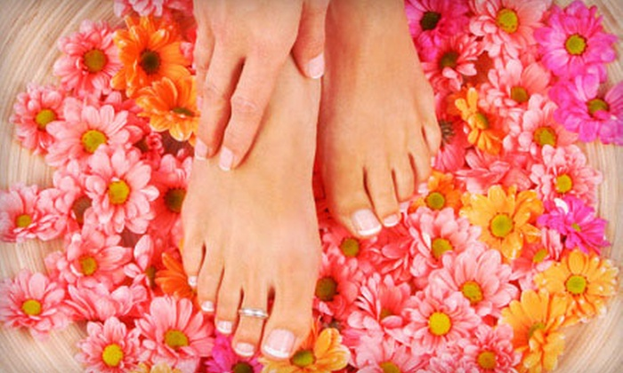 Seaside Day Spa - Virginia Beach: Spa Mani-Pedi or Three Groupons, Each Good for One Spa Manicure with Shellac Polish at Seaside Day Spa (51% Off)