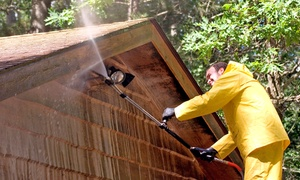 PR Design: Power Washing for a Home, One-Level Deck, or Two-Car Driveway from PR Design (Up to 55% Off)