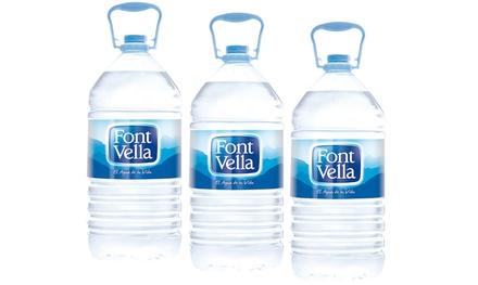 Hasta 19.5 litros de agua mineral Font Vella o 12.5 litros de Nestle Aquarel