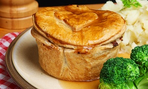 The Dukes Head: Pie and Sides with Optional Beer or Wine for Two or Four at The Dukes Head