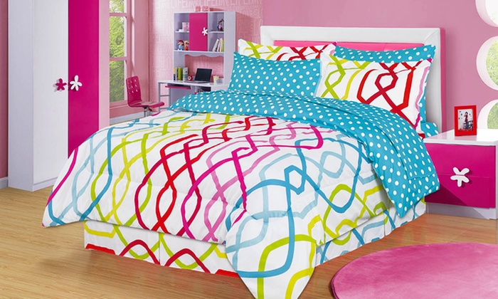 kids 39 bed in a bag bedding sets groupon goods. Black Bedroom Furniture Sets. Home Design Ideas