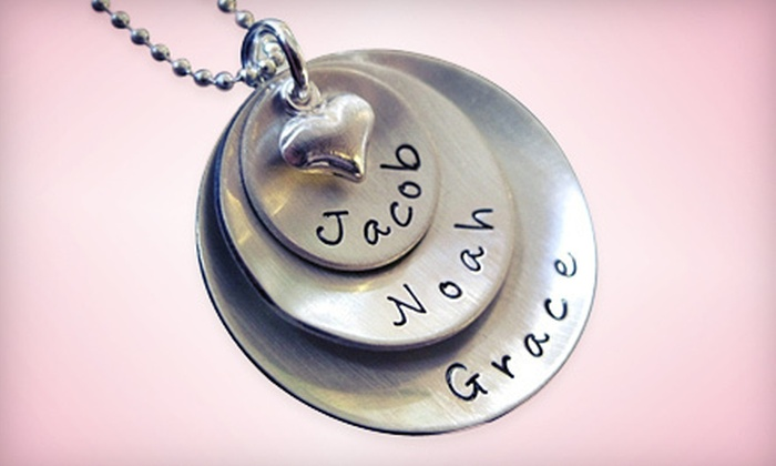 AJ's Collection: Personalized Jewellery from AJ's Collection (Up to 53% Off). Two Options Available.