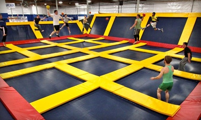 Sky High Sports - Sky High Sports - Houston: Two-Hour Trampoline Sessions or Private-Court Rental for 24 or 40 at Sky High Sports (Half Off). Five Options Available.