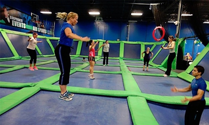 AirHeads Trampoline Arena - Tampa: Three or Six AiRobics Fitness Classes at AirHeads Trampoline Arena (Up to 50% Off)