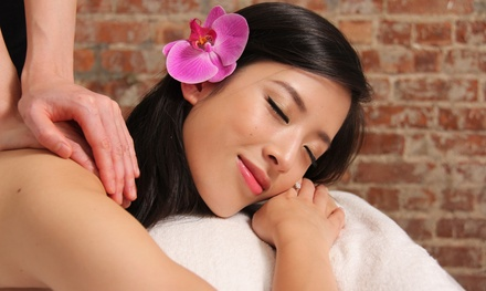 Ultrasonic Facial with Collagen Eye mask, Hot Stone Massage, or Both at Skin Station (Up to 63% Off)