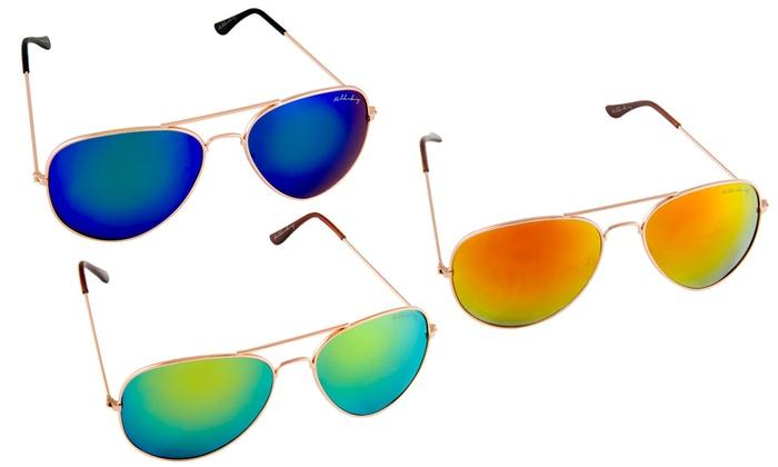 Groupon Goods Global GmbH: Tris di occhiali da sole Bilderberg con lenti a specchio. Varie opzioni disponibili da 25,19 €