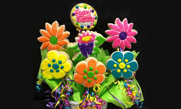 Cookies In Bloom - Vista Ridge Square: $33 for $60 Worth of Gourmet Cookie Bouquets from Cookies In Bloom