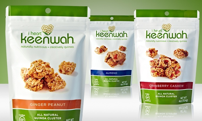 6-Pack of I Heart Keenwah Quinoa Clusters: 6-Pack of I Heart Keenwah Quinoa Clusters