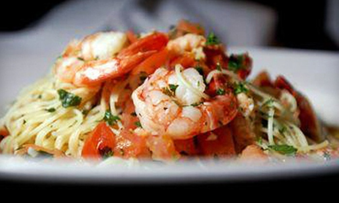 Seasonal Grille - Millbrook: Italian Dinner for Two or Four with Wine at Seasonal Grille in Hastings (Up to 52% Off)