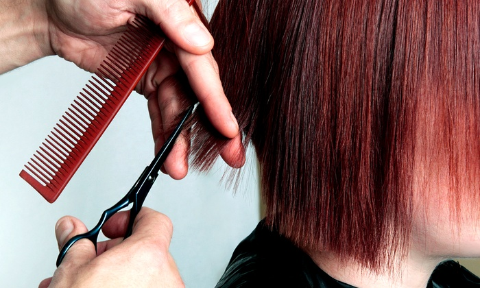 Jitterbug Pearl Salon and Boutique - Champions Center: Women's Haircut Packages at Jitterbug Pearl Salon and Boutique (Up to 59% Off). Three Options Available.
