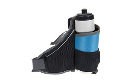 Riñonera con toalla de microfibra con bolsa para botella deportiva