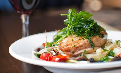 image for Steak or Pan-Fried Hake Meal for Two or Four with Optional Prosecco at Ambrosia Caffé & Ristorante (48% Off)