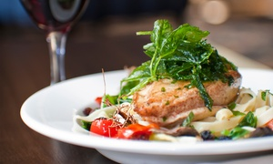 Ambrosia Caffe & Ristorante: Steak or Pan-Fried Hake Meal for Two or Four with Optional Prosecco at Ambrosia Caffé & Ristorante (48% Off)