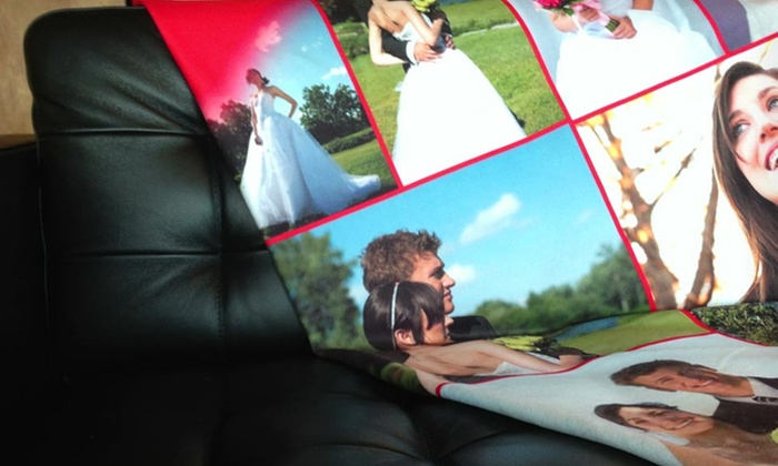 Customized Collage Blanket from Collage.com: Customized Collage Blanket from Collage.com. Multiple Sizes Available from $39.99–$49.99.
