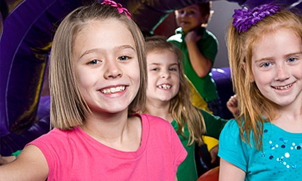Open Bounce, Pre-K Drop-Off Program, One-Day Camp, or Bounce Party for 12 at BounceU (Up to 50% Off)