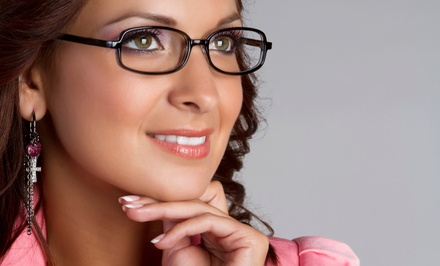 Eye Exam and Pair of Single-Vision, Bifocal, Trifocal, or Progressive Glasses at Pearle Vision (Up to 52% Off)