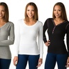 4-Pack of Emme Jordan Women's Thermal Tops